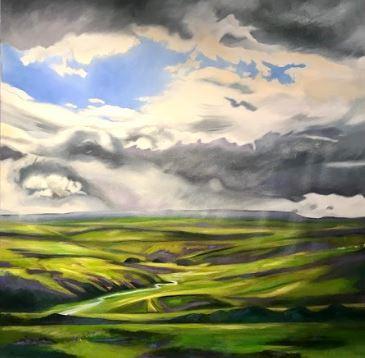 Alston Moor Oil on Canvas  100 x 100 cm  £1700