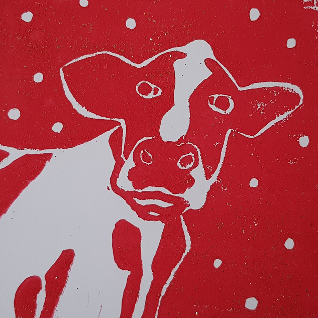 Hand printed cards by Nicki Rolls - also available in pink or blue £2 each Pack of 3 £5 Pack of 10 £10