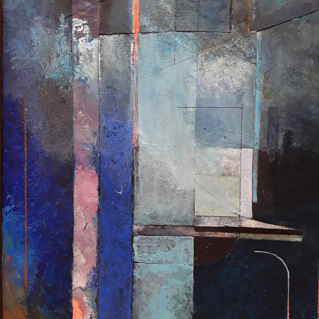 John Potter 'Boatyard', 2019 Acrylic on canvas, 35 x 25cm £300 (framed)