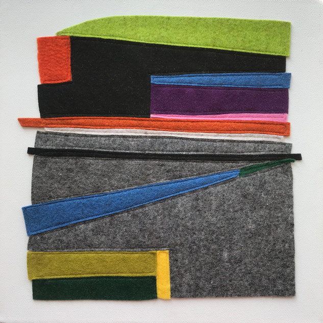 Abstract Composition in felt £200 Please text Siglint Kessler 07730871780