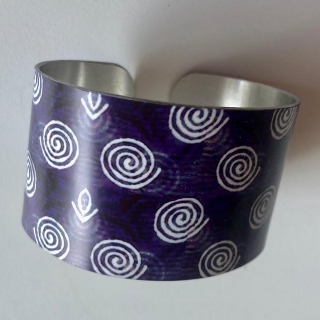 Punjabi Textile design Aluminium bangle. £42  Monica 07887677332