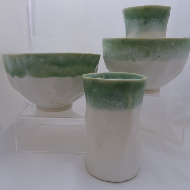Gioilla Zordan Porcelain Bowls (£16)and beakers (£11)  together £ 22