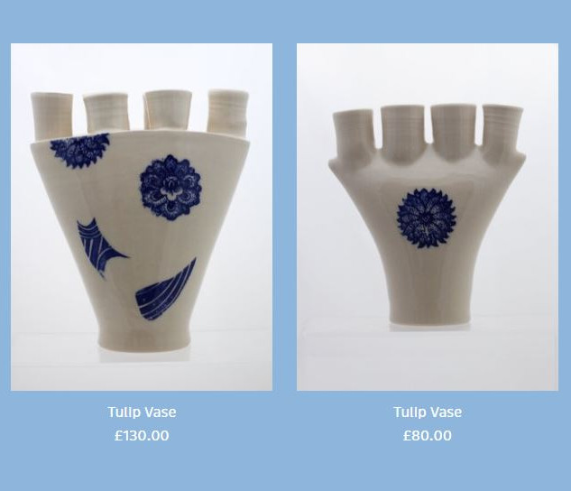 Peter Smith Tulip Vases Stoneware Available to buy at: www.petersmithceramics.uk