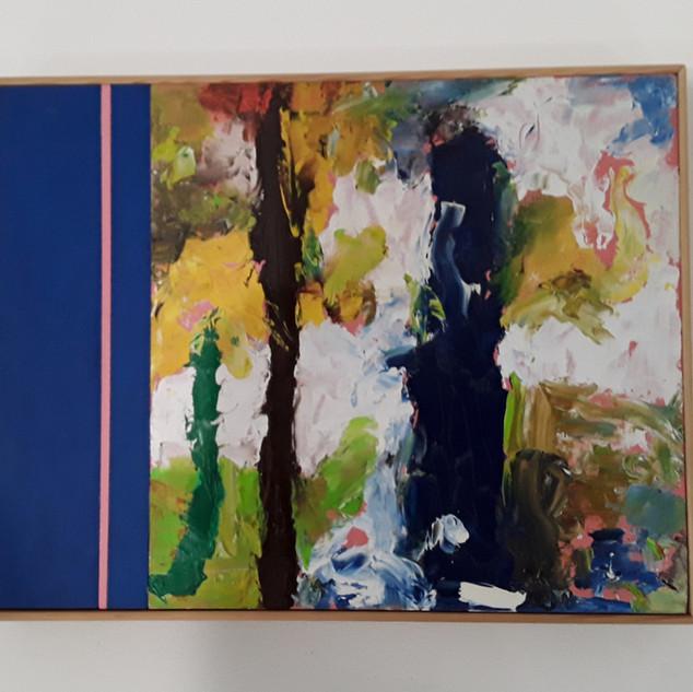 John Potter 'Flight Path' #4 Acrylic and oil on board, 32 x 26cm £250 (framed)
