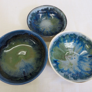 Three porcelain bowls
