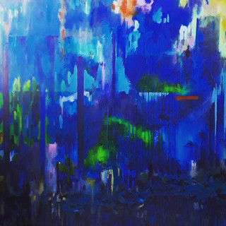 John Potter 'Blue River' 2019 Acrylic on canvas, 150 x 150cm Price on request