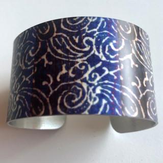'Indian textile' Aluminium bangle. £42  Monica 07887677332