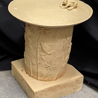Bird bath Stoneware, £325 Please email Angela Attwood