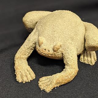 Frog Stoneware garden  decoration, £18 Please email Angela Attwood