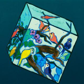 Cubic bird world Oil on canvas 80 x 110cm