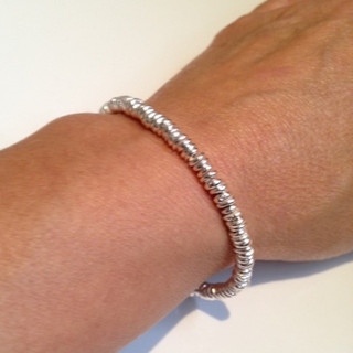 Pebble bracelet.  £170  Sterling silver pebble bracelet, created with individually made Sterling silver beads.   Christine Savage 07966550936