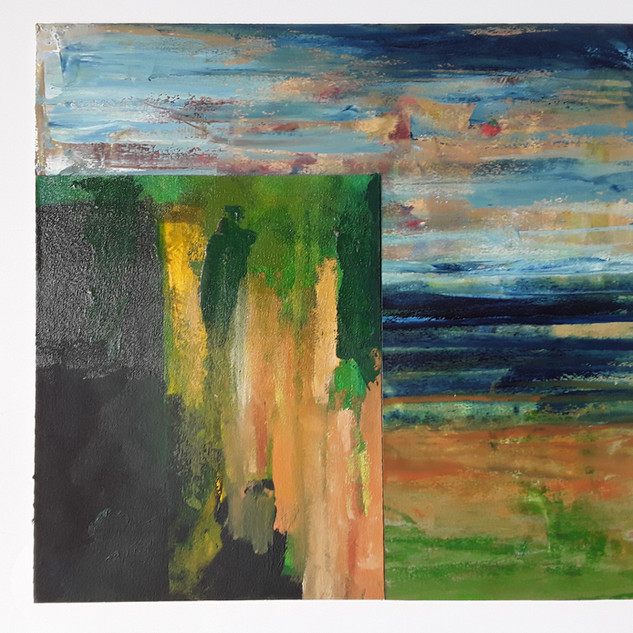 John Potter 'Tides', 2019 Acrylic on canvas, 25 x 30cm £250 (framed)