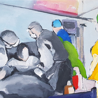 Hinterland Oil on canvas