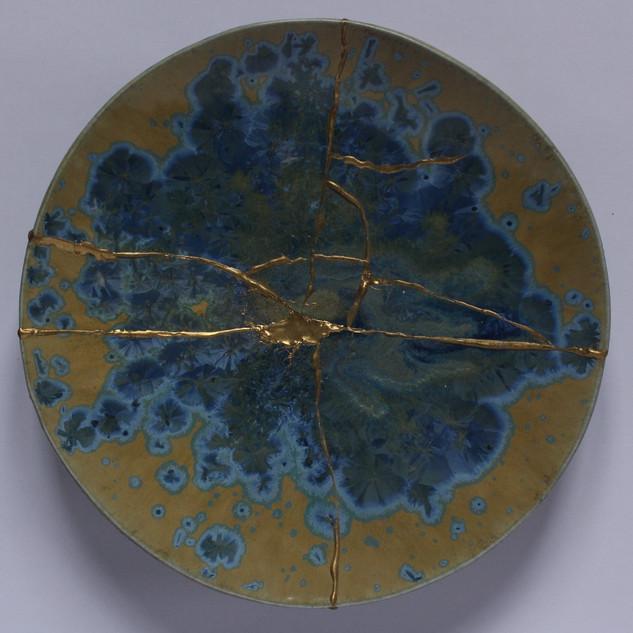 Crystaline glazed stoneware plate(About 25cm diameter) £90 each Irek Gajowniczek 07986609977