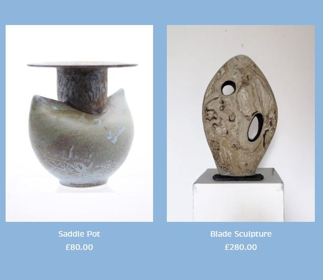 Peter Smith Saddle Vase and Sculpture Stoneware Available to buy at: www.petersmithceramics.uk