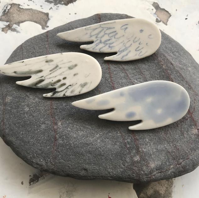 Wing porcelain brooch, £7 Please email or text Siglint Kessler 07730871780