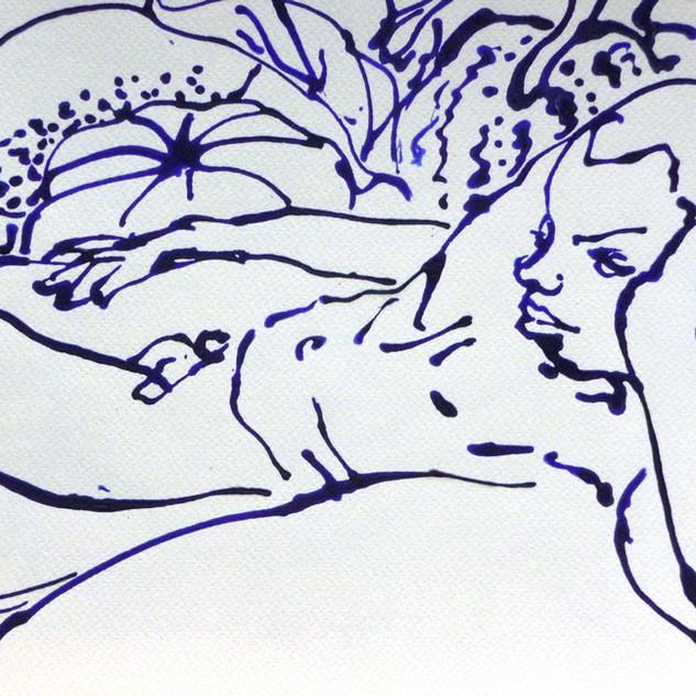Figure Acrylic on Watercolour Paper