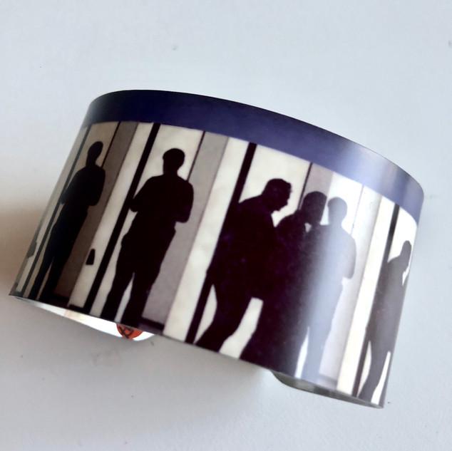 Shadow People aluminium bangle. £42 contact Monica 07887677332