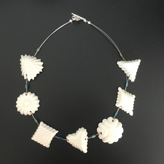 Necklace with handmade porcelain beads, £49 Please email or text Siglint Kessler 07730871780