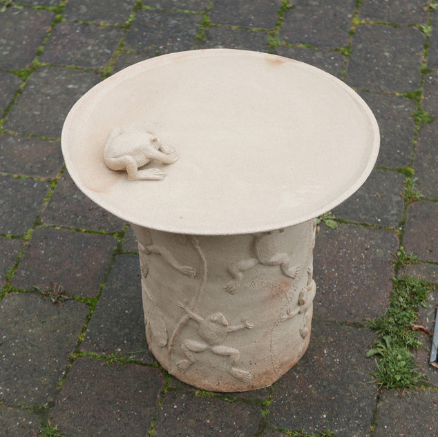 Bird bath Stoneware, £325 Please email Angela Attwood