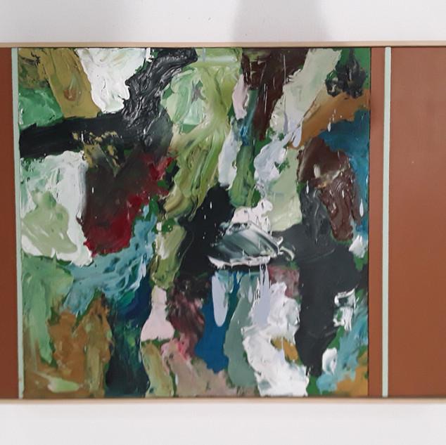 John Potter 'Flight Path #3' Acrylic and oil on board, 32 x 26cm £250 (framed)