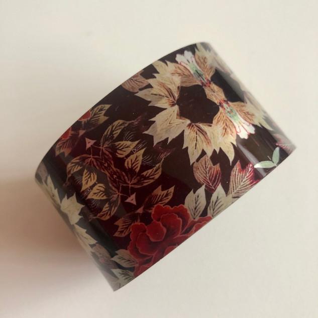'Floral Fabric'  Aluminium bangle. £42  Monica 07887677332