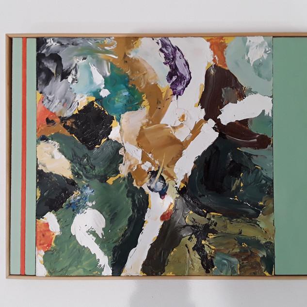 John Potter 'Flight Path #2' Acrylic and oil on board, 32 x 26cm £250 (framed)