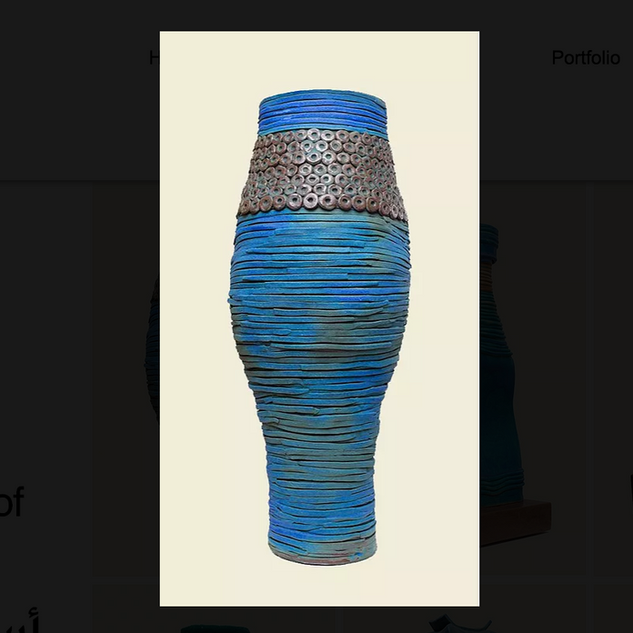 Najha Saleh Ancient Pot £950 Earthenware Clay, Glazed. H. 105cm
