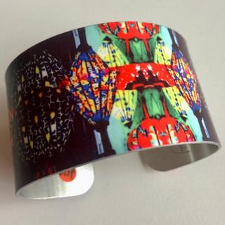 'Vietnam Lanterns' Aluminium bangle. £42  Monica 07887677332