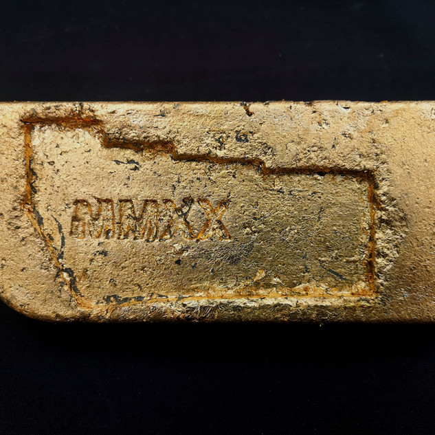 Pate Gold Bar Concrete and Gold Leaf 10cm x 25cm x 1cm £100