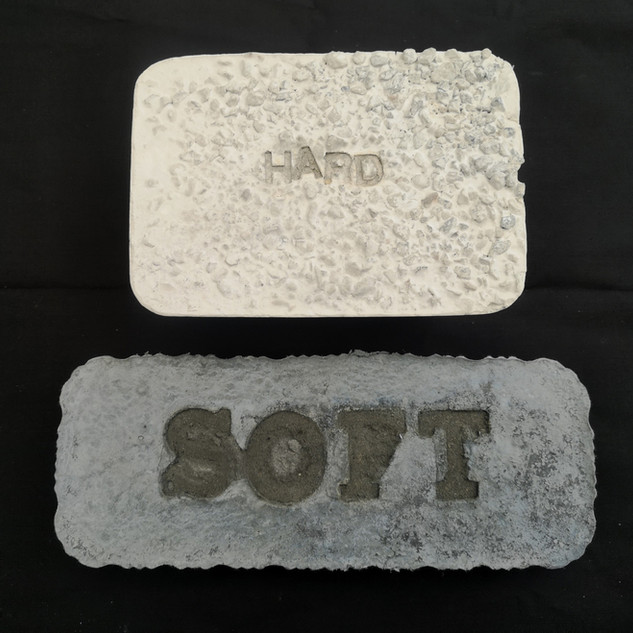 Hard Soft Concrete 20cm x 25cm x 5cm and 10cm x 25cm x 5cm £150
