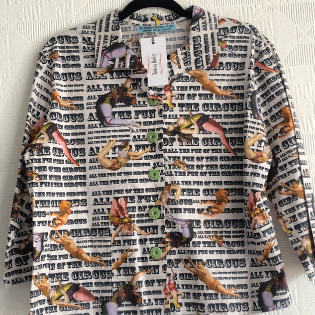 Circus digital print cotton shirt. One size 12-14 £130