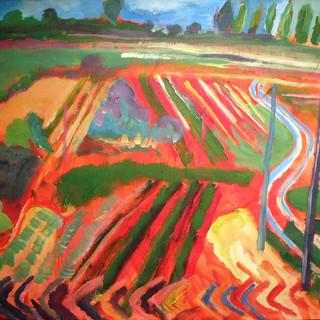 Spanish Landscape Acrylic on Canvas
