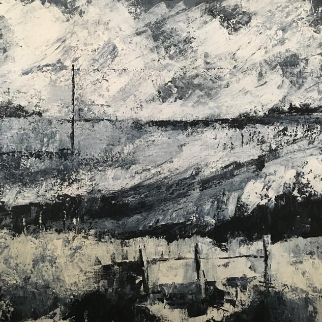 Cumbria Acrylic on canvas  60 x 60 cm  NFS