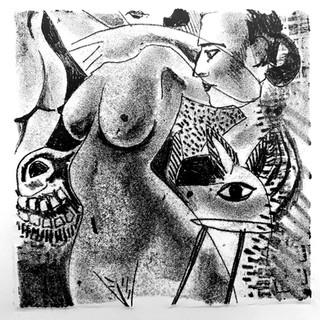 Picasso Figures Monoprint 20cm x 20cm £50