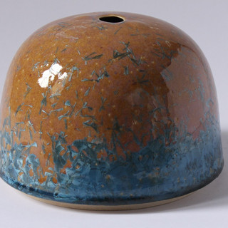 Stoneware crystaline container (About 20cm high) £100 Irek Gajowniczek 07986609977