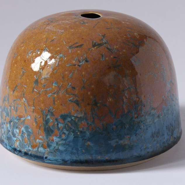 Stoneware crystaline container (About 20cm high) £100 Irek Gajowniczek 07986609977