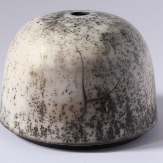 Slip resistant raku container (About 20cm high) £50 Irek Gajowniczek 07986609977