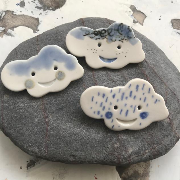 Cloud porcelain brooch, £7 Please email or text Siglint Kessler 07730871780