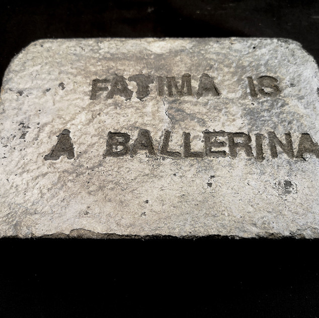 Fatima is a Ballerina Concrete 20cm x 25cm x 7cm £150