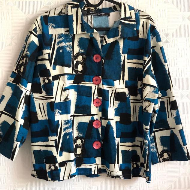 Denim Jacket with trim applique