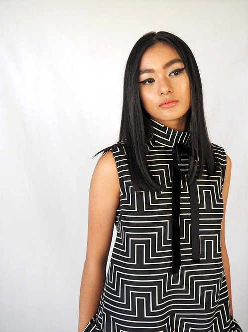 Geometric Babydoll Dress