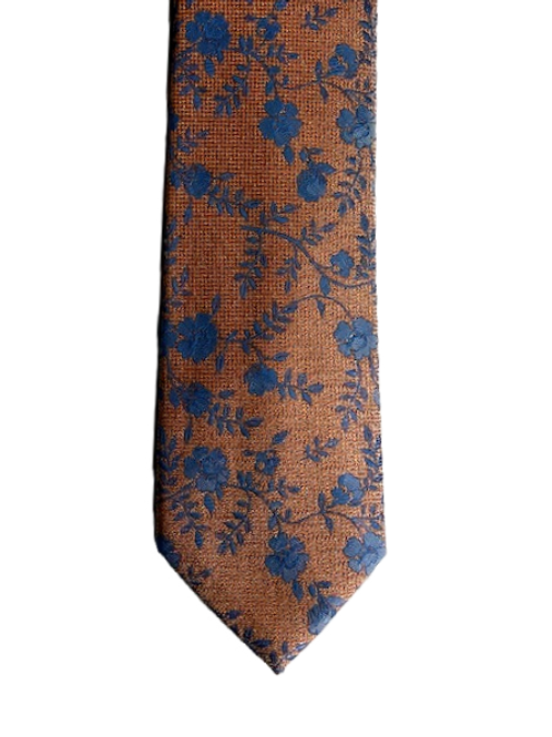 Blue and orange tie