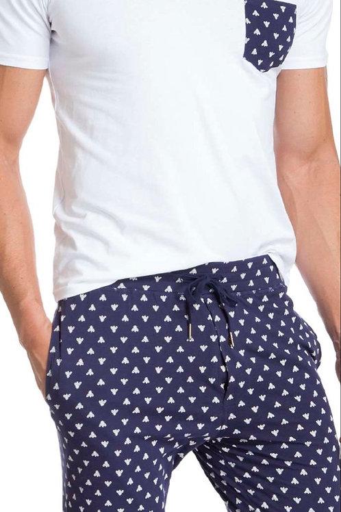 Blue & White Pajama Set