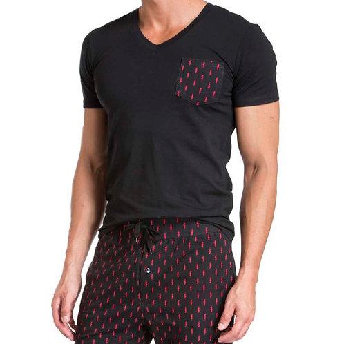 Black & Red Pajama Set