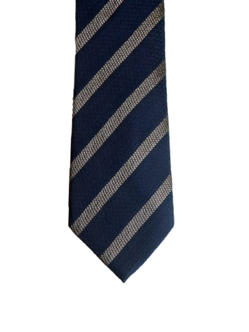 Blue and silver stripe