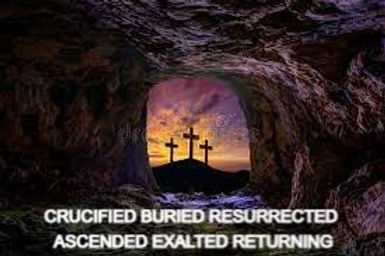 Cross & Open Grave