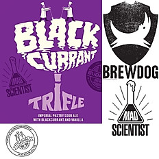 BLACK CURRANT TRIFLE - Imperial pastry Gose - BREWDOG & MadScientist