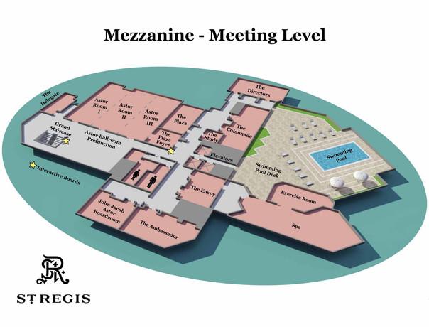 St. Regis Hotel Map