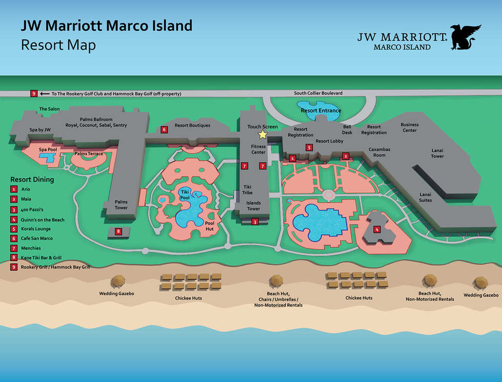 JW Marriott Marco Island Resort Map